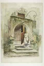 Two Women in a Doorway