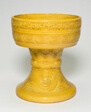 """Altar Food Vessel with Tall, Flared Stem"""""""
