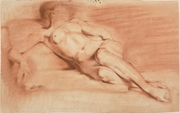 Reclining Female Nude (recto and verso)