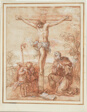 Saint Augustine and Two Angels Adoring the Crucifix