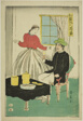 Dutch Couple Drinking Wine (Orandajin sakamori)