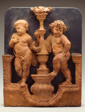 Two Putti Supporting a Torch