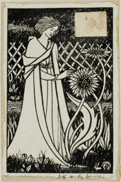 Decorative Study: Woman with Sunflowers