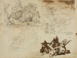 Four Sketches for a Cavalry Battle