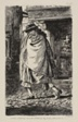 A Cloaked Figure Passing Through the Street (at the Time of the Plague in London)