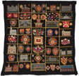 Bedcover (Buildings, Animals and Shields Quilt)