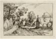 A Village Road, plate seven after Pictures of Farms, Country Houses and Rustic Villages (Praediorum villarum et rusticarum casularum icones)