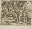 Achior Pleading with Holofernes for the Israelites, plate one from The Story of Judith and Holofernes