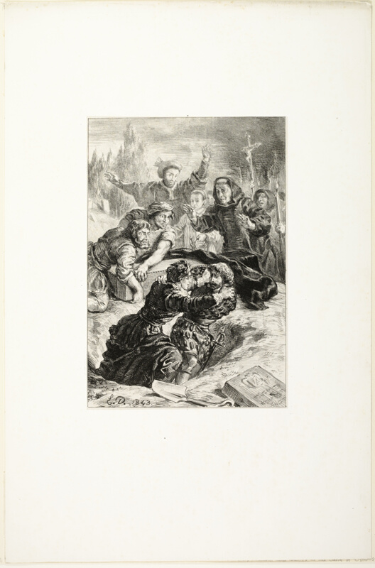 hamlet and laertes in ophelias grave the art institute