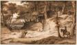 Horseman and Hunter in the Woods of Doorwerth, Near Arnhem