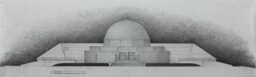 Adler Planetarium and Astronomy Museum Addition: Design Drawings, West Elevation