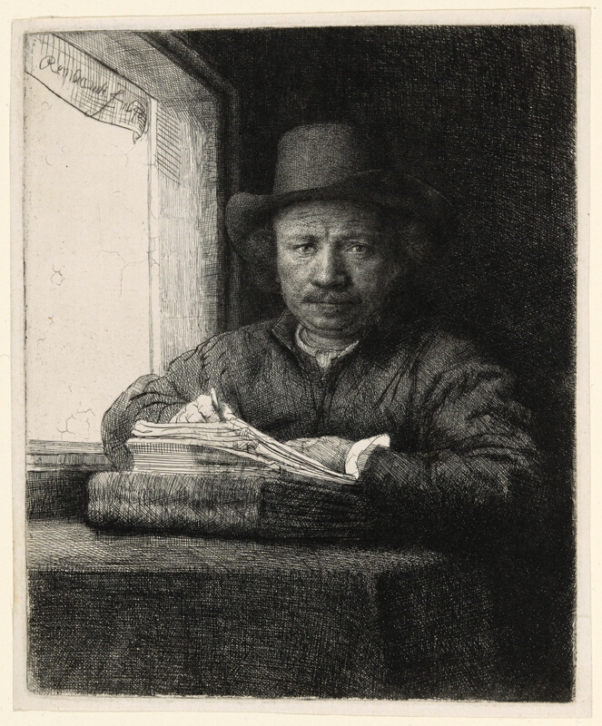 Self-Portrait Etching at a Window | The Art Institute of ...
