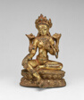 Goddess Green Tara Seated with Hand in Gesture of Gift Giving (Varadamudra)