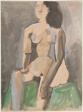 Seated Woman (recto); Study (verso)