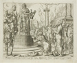 Judith Displaying Holofernes's Head to the People of Bethulia, plate seven from The Story of Judith and Holofernes