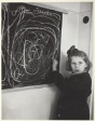 "Tereska, a Child in a Residence for Disturbed Children, Grew Up in a Concentration Camp. She Drew a Picture of ""Home"" on the Blackboard, Poland"