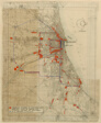 Plan of Chicago, Chicago, Illinois, Railroad Circuits Diagram