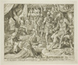 Judith Presented to Holofernes, plate five from The Story of Judith and Holofernes