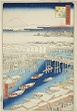 """Clear Weather After Snow at Nihon Bridge (Nihonbashi yukibare), from the series """"One Hundred Famous Views of Edo (Meisho Edo hyakkei)"""""""