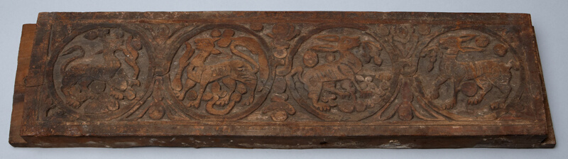 Architectural fragment with relief carving the art