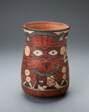 Beaker Depicting a Costumed Performer Holding Decapitated Head