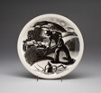 """""""Farming"""" plate, """"New England Industries"""" series"""