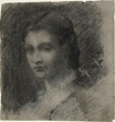 Bust of a Young Woman (recto); Seated Female Figure (verso)