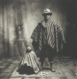 Father and Son with Eggs, Cuzco