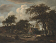 Wooded Landscape with Cottage and Horseman