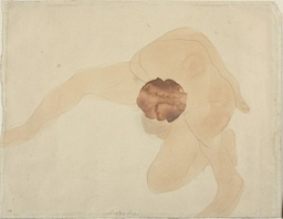 Pivoting Nude, Seen from Above