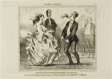 New Entertainment at the Parisian Evening Parties. The spirit of Mr. Hume shaving the beard of Monsieur de St. Potard and undoing the hair of Madame Coffignon, plate 8 from Ces Bons Parisiens