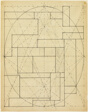 """Facade Elevation Study for """"Interrelation of Volumes from the Ellipsoid"""""""