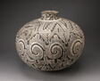 Storage Jar (Olla) with Black, White, and Hathed Linked Scrolls, Triangles, and Stepped Motifs