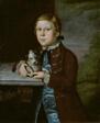 Boy of Hallett Family with Dog