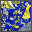 Four Tiles with a Figural Scene