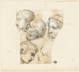 Sketches of Male Heads (recto); Two Old Women (verso)