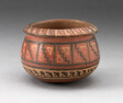 Miniature Bowl with Geometric Textile-Like Pattern
