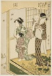"""No. 8 (hachi), from the series """"Women Engaged in the Sericulture Industry (Joshoku kaiko tewaza-gusa)"""""""