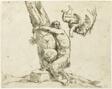 Cupid Punishing a Satyr