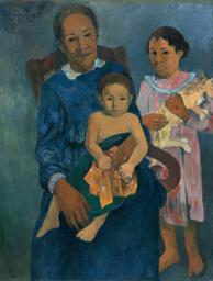 Polynesian Woman with Children