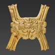 Gold Pectoral with Zoomorphic Face