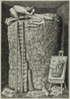 Illustration from Alberic the Wise (recto); Man Carrying a Column (verso)