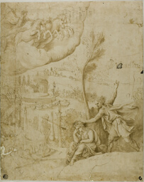 Study for the Omen of the Future Greatness of Augustus: Left Portion