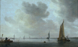 Fishing Boats off an Estuary