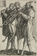 Three Trombonists, plate twelve from The Large Wedding-Dancers