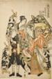 """Hidematsu, Yasokichi, Izukiyo of the Otsuya (Otsuya uchi Hidematsu, Yasokichi, Izukiyo), from the series """"Female Geisha Section of the Yoshiwara Niwaka Festival (Seiro niwaka onna geisha no bu)"""""""
