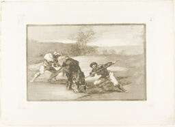 Another way of hunting on foot, plate two from The Art of Bullfighting