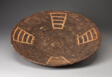 Shallow Basketry Bowl with Four Ladder-like Designs Radiating from Center
