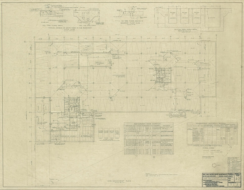 North Lake Shore Drive Sub Basement Plan The Art - Sub basement