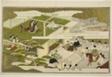 """New Year at Court, from the illustrated kyoka anthology """"The Young God Ebisu (Waka Ebisu)"""""""
